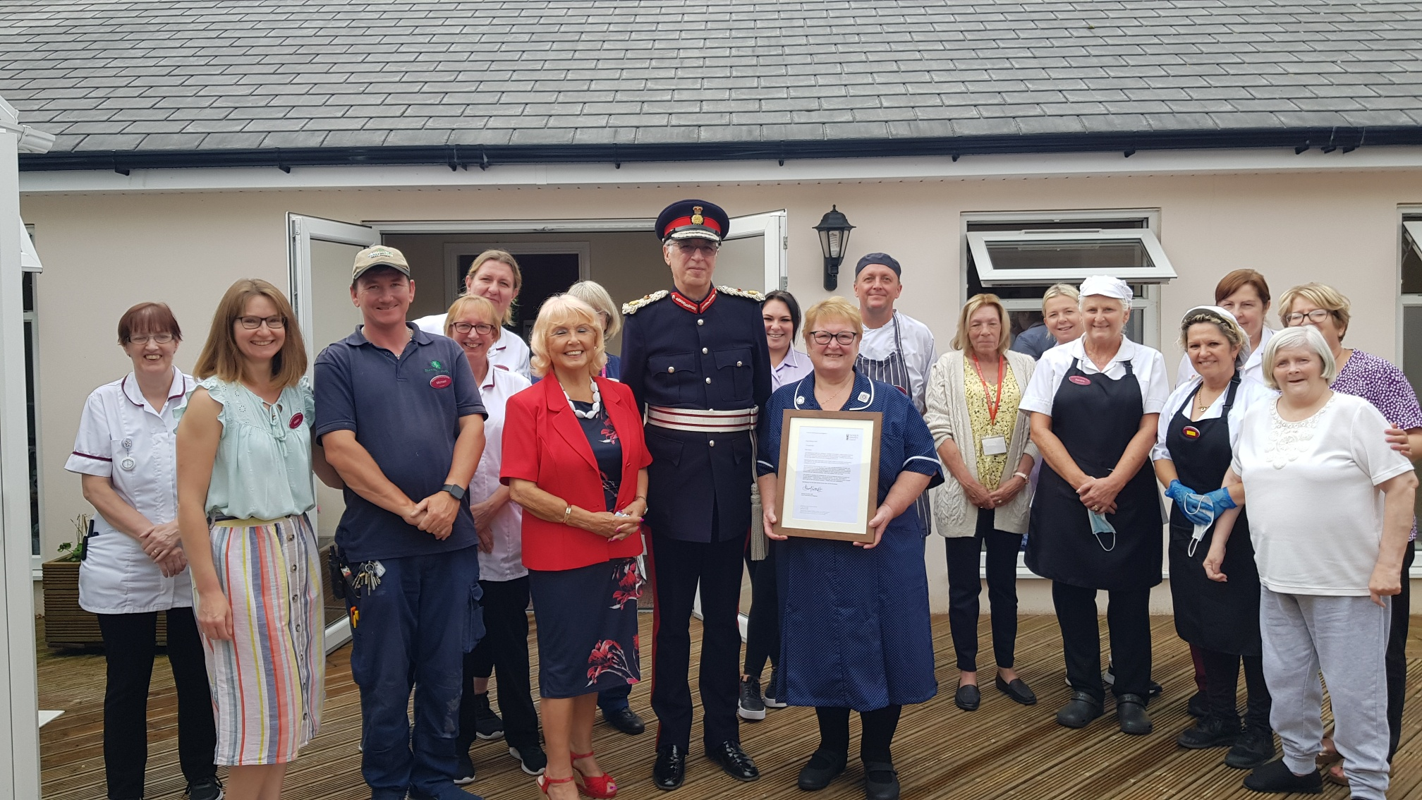 Nursing home matron given special certificate for 50 years of service
