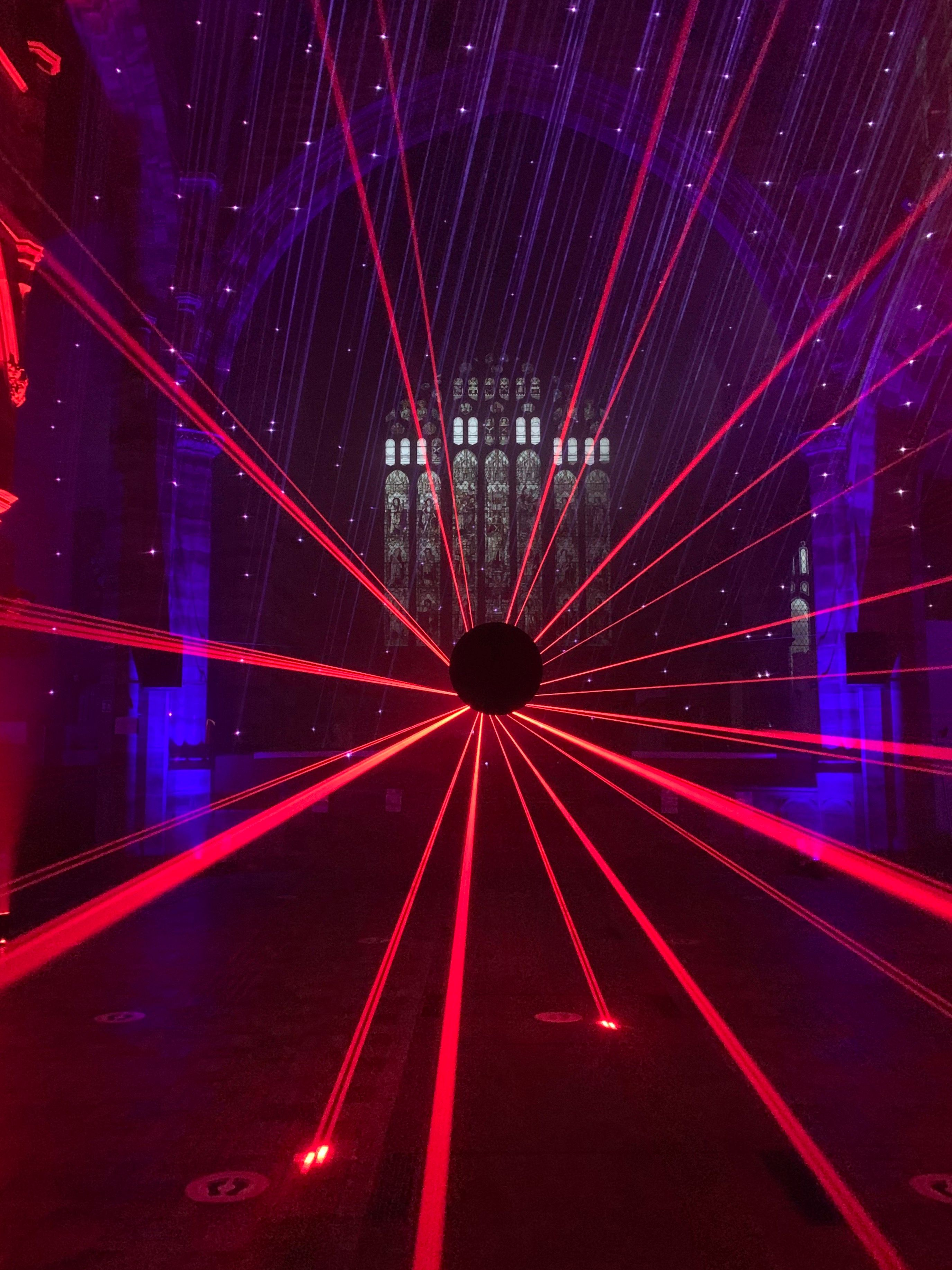 Light and laser show at church to aid charities