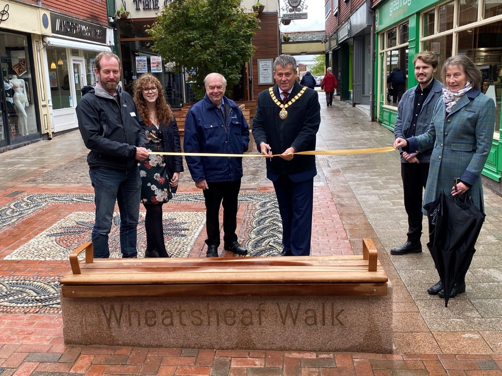 Work completed at town centre's Wheatsheaf Walk