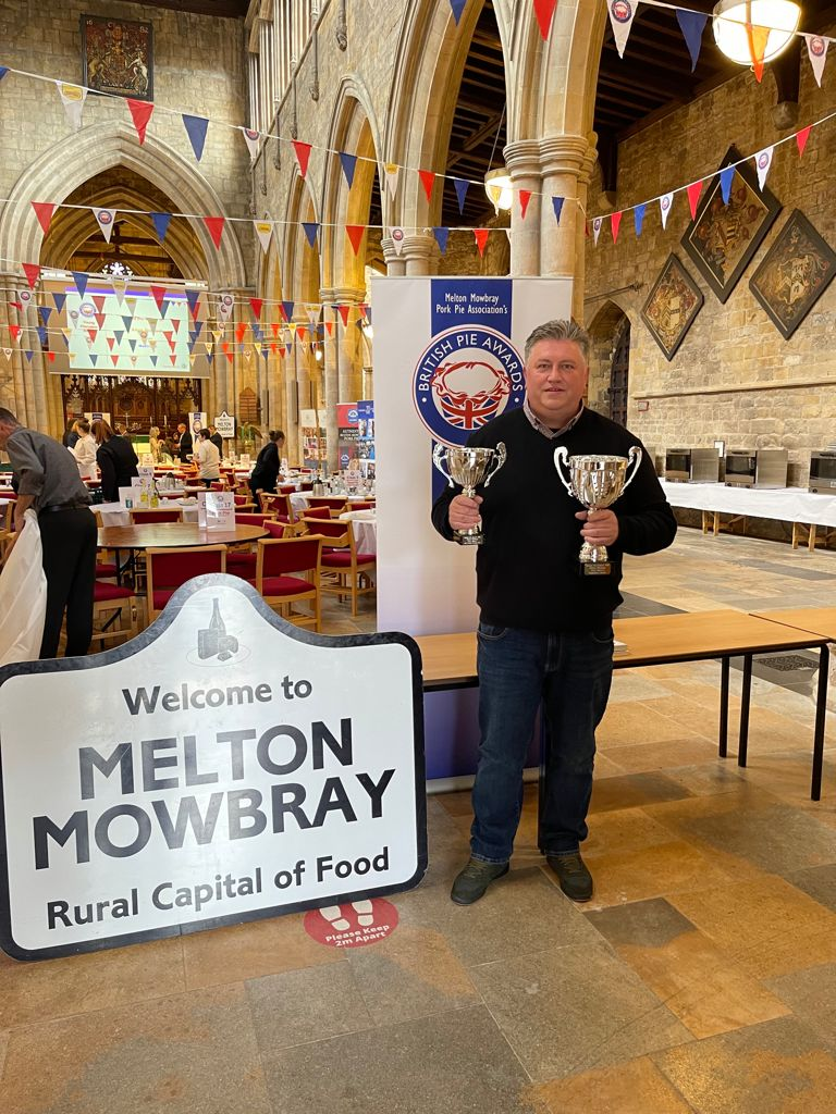 Chef earns his crust winning eight prizes at British Pie Awards!