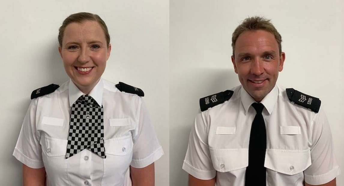 Officer nominated for bravery award after saving woman's life from top of burnt-out building