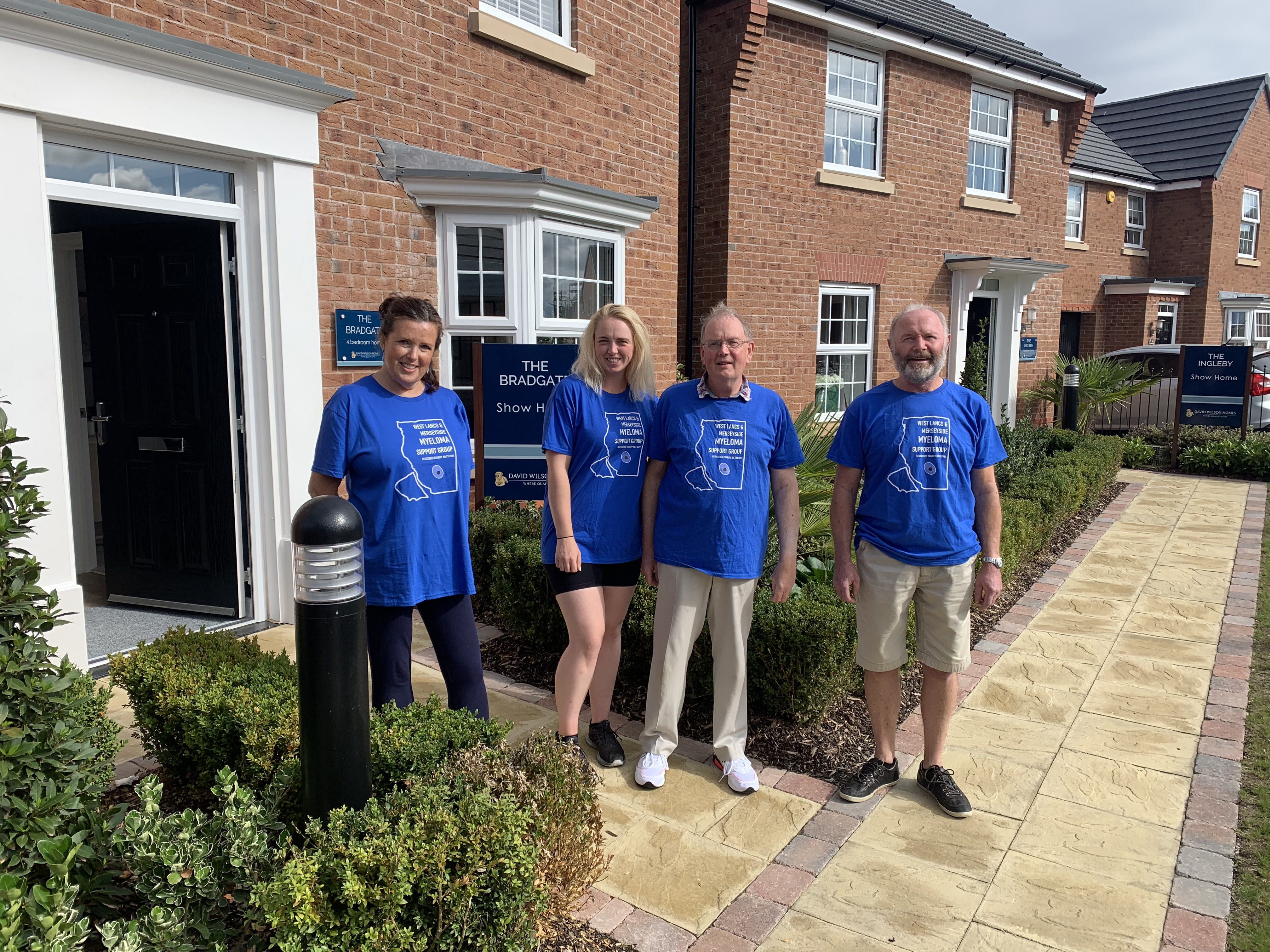 Myeloma Support Group receives donation of £1,000 from David Wilson homes