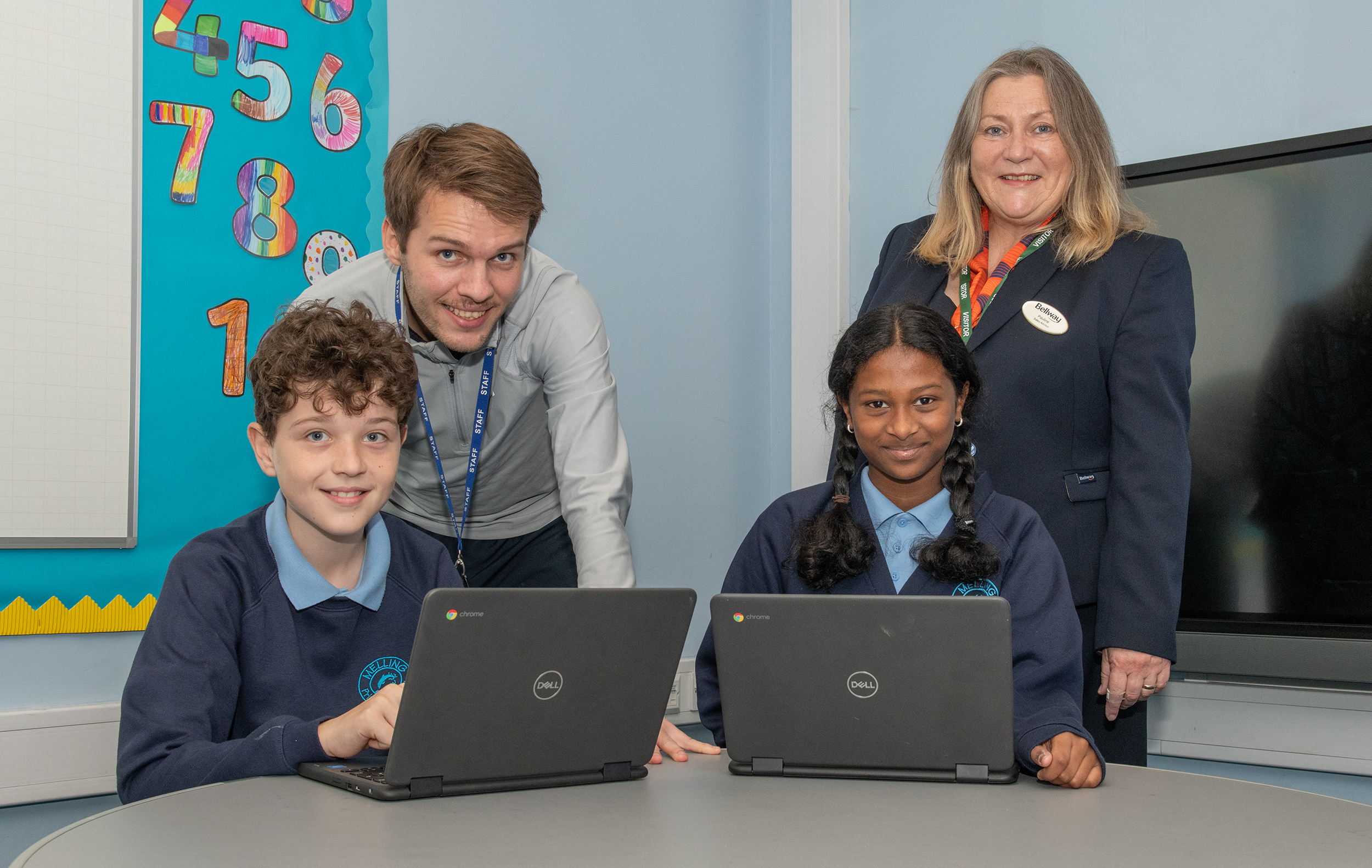 Housebuilder purchases two new chromebooks for Melling primary school