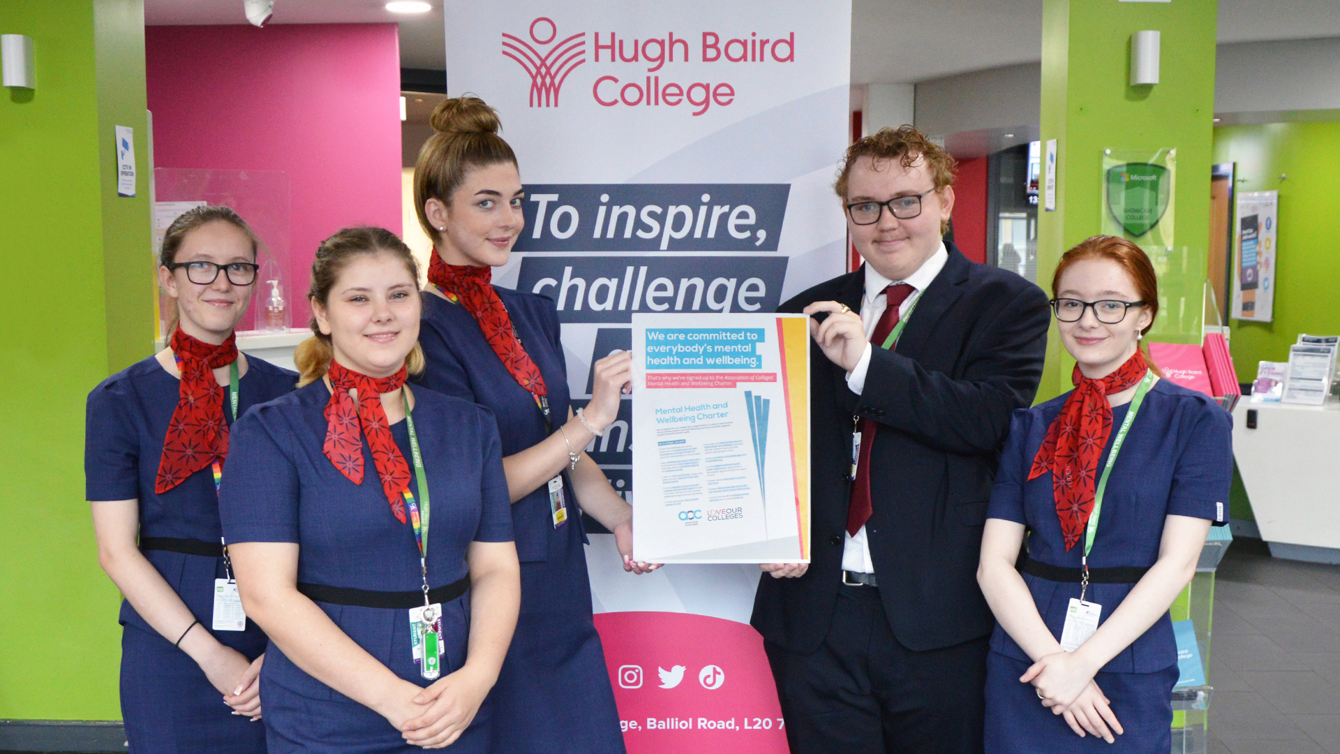 College makes commitment to support students and staff with their mental health and wellbeing