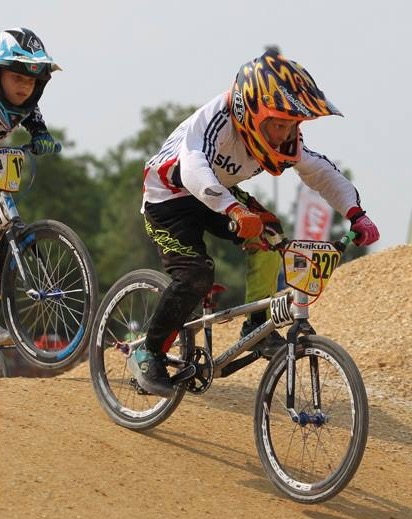 BMX rider James is on track for success