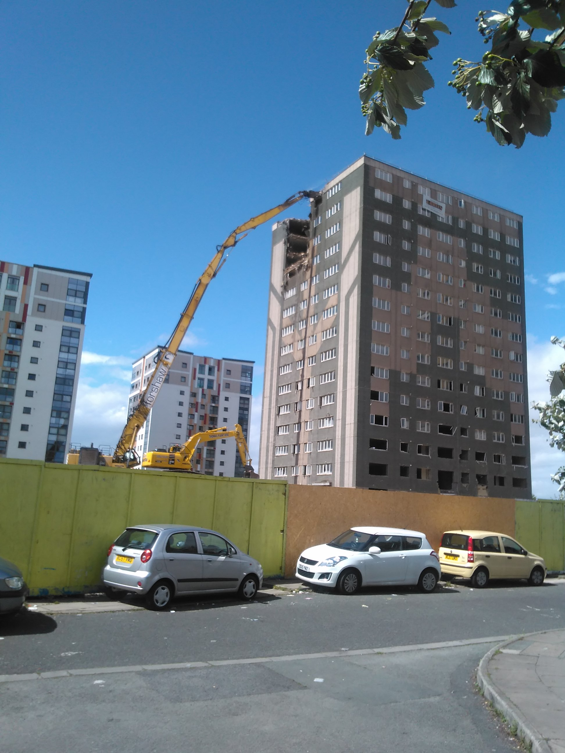 Tower block finally comes down