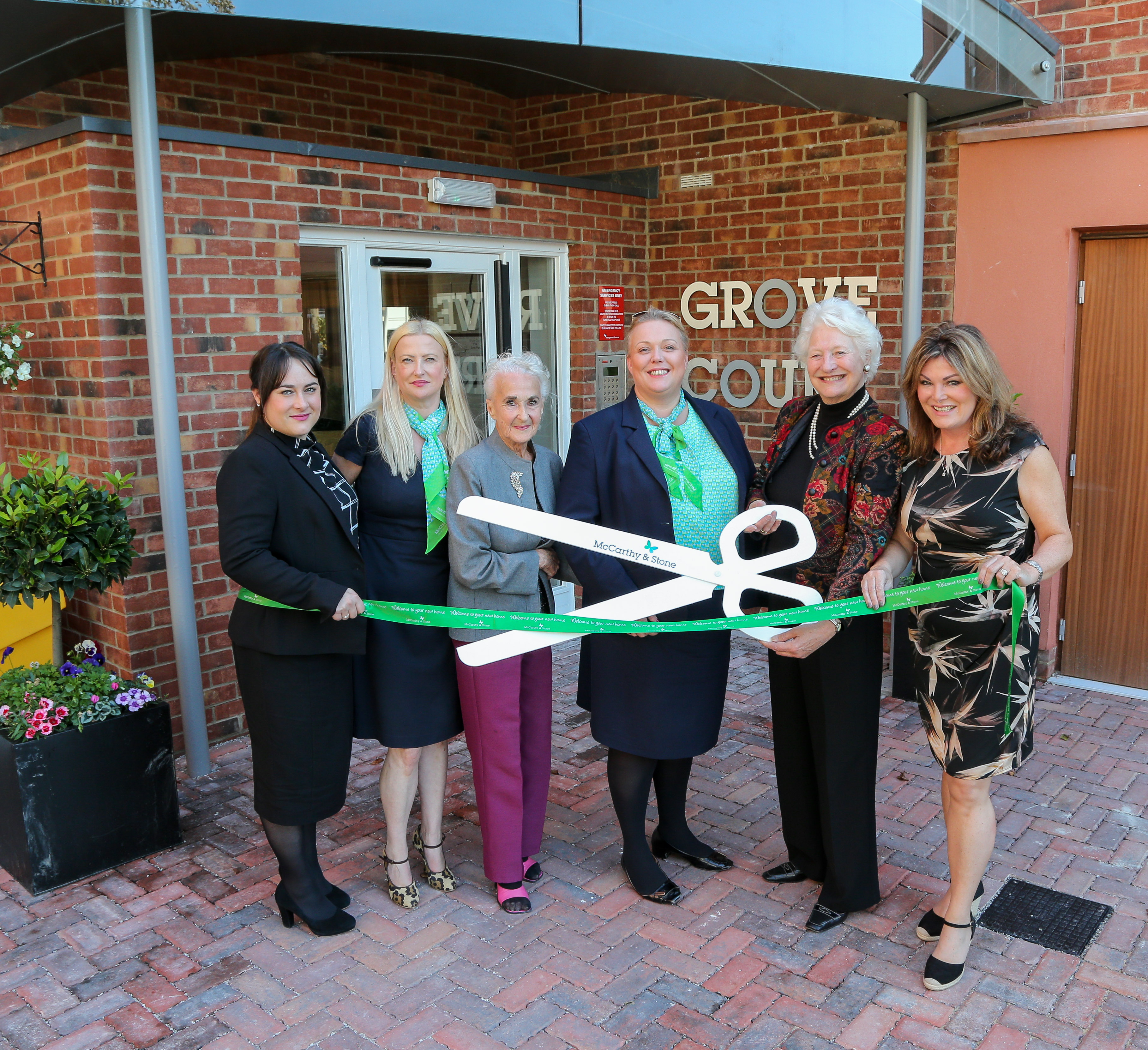 Dame Mary Peters opens new village housing development
