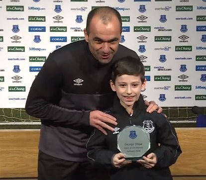 George wins Blues goal of month award