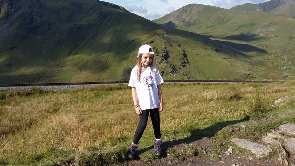 Ninna, 8, conquers Mount Snowdon for cancer charity