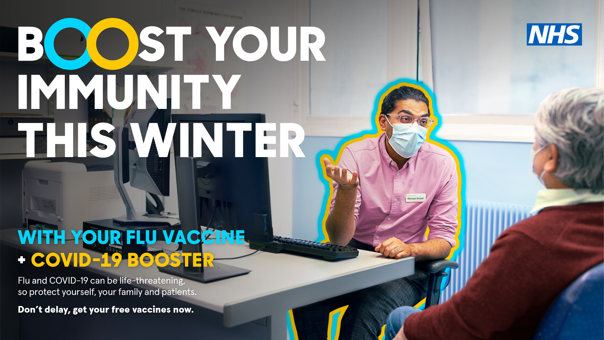 Residents urged to take up flu and COVID-19 vaccines to boost their immunity this winter