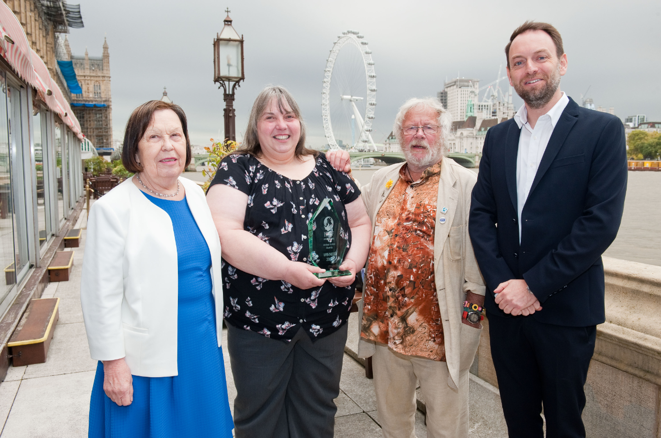 Horse sanctuary founder receives top award for animal welfare work