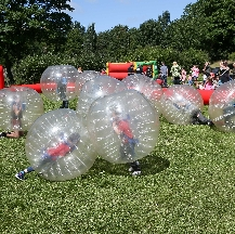 The inflatable Zorbs are a big hit with the youngs
