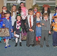 pupils from years 1 to 6 dressed in their favourit