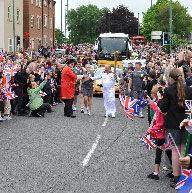 Olympic Torch June 1st Ormskirk Park Road town cri