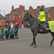 WPC Jayne Spinx on Police Horse Frankby also known