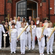 The West Lancashire torchbearers with Cllr David S
