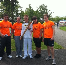 Park Pool staff with Olympic torch bearer ???