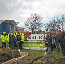 work has begun on north park with local charity YK