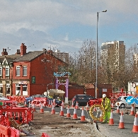 roadworks at major junction causing access to Rail