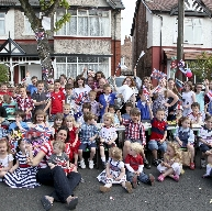 Residents of Princes Avenue in Crosby enjoying the