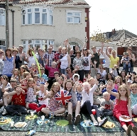 Residents of Cranmore Avenue in Crosby enjoying th