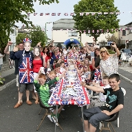 Residents of Glenby Avenue in Crosby enjoying the