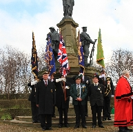 Bootle and Sefton Mayor along with veterans and st